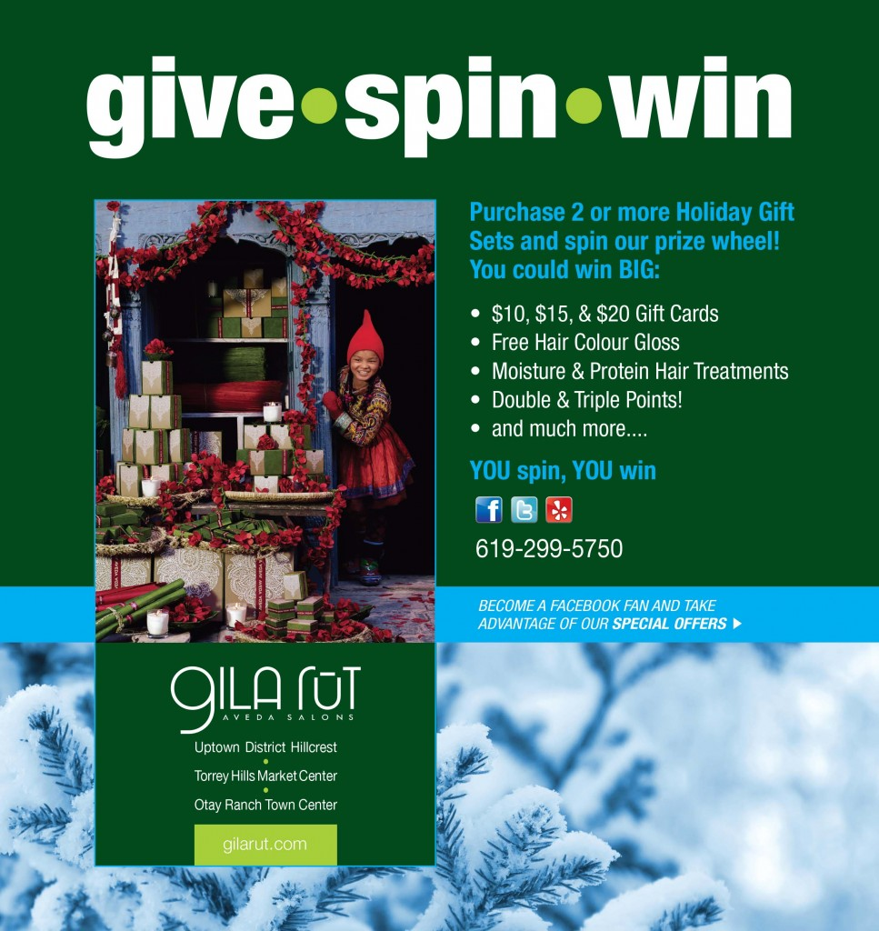 Holiday Promotion at Gilarut Salon San Diego