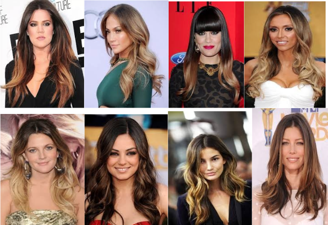 Popular balayage highlights